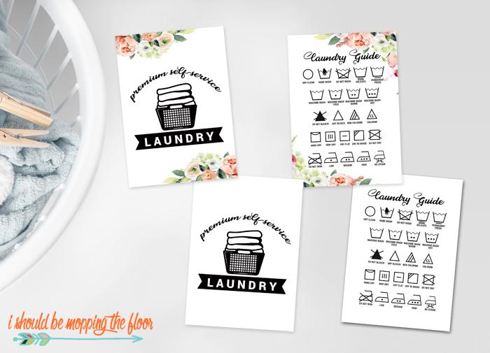 Laundry Symbols Chart Printable