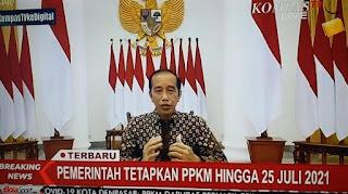 BREAKING NEWS: Presiden Jokowi Resmi Perpanjang PPKM Darurat hingga 25 Juli 2021