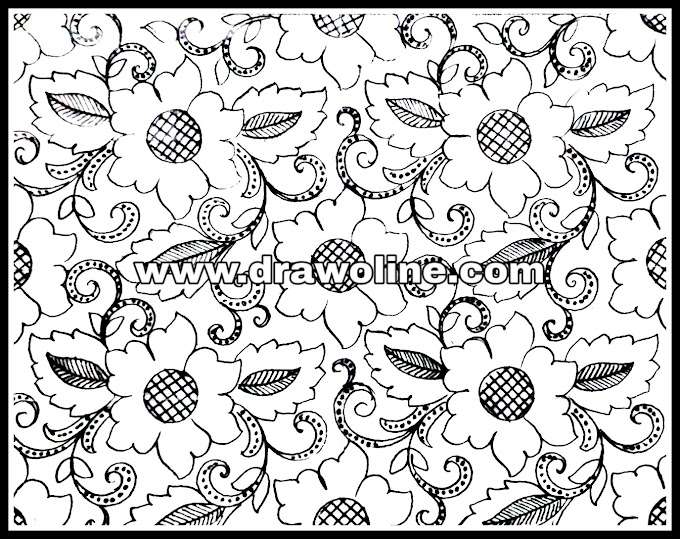 how to draw embroidery designs on sarees/all over embroidery designs/hand embroidery allover saree design