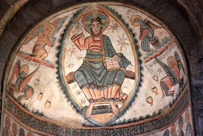 Pantocrator en la Colegiata de Santa Maria de Mur