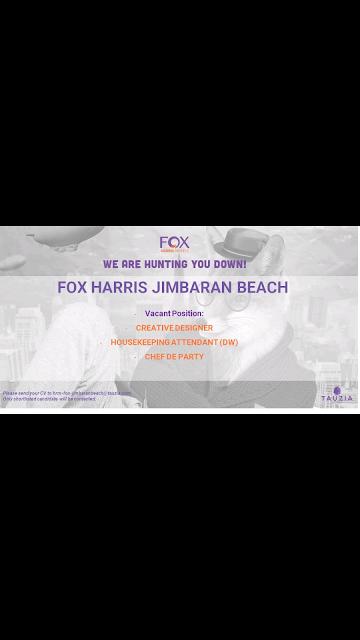 Lowongan kerja Fox Harris Jimbaran Beach Hotel 2019