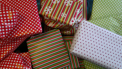 Colour coded wrapping Paper - A Fun Family Christmas Tradition