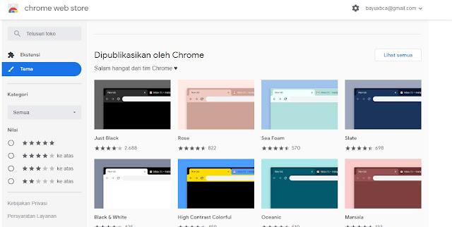 Cara Mengganti Tema Google Chrome
