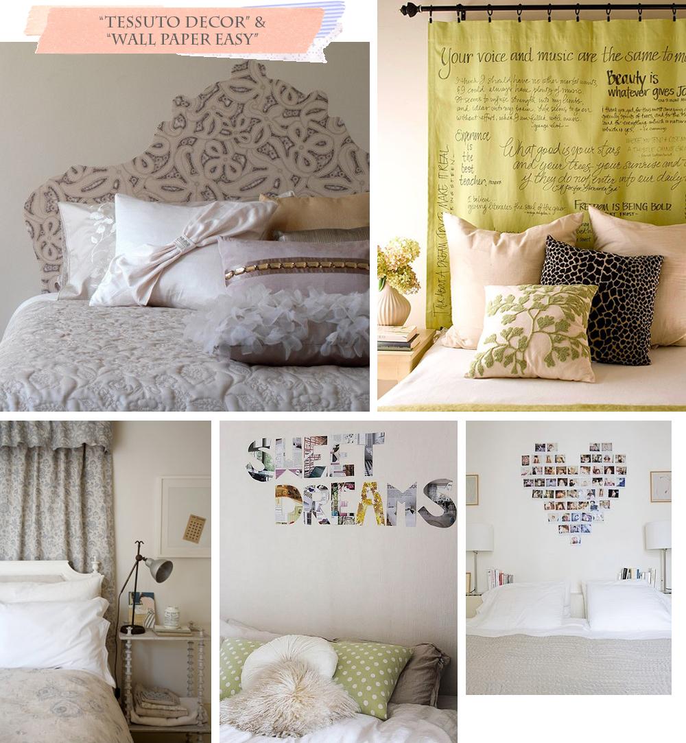 Varie soluzione per una nuova testiera shabby chic interiors - Come fare una testata del letto imbottita ...