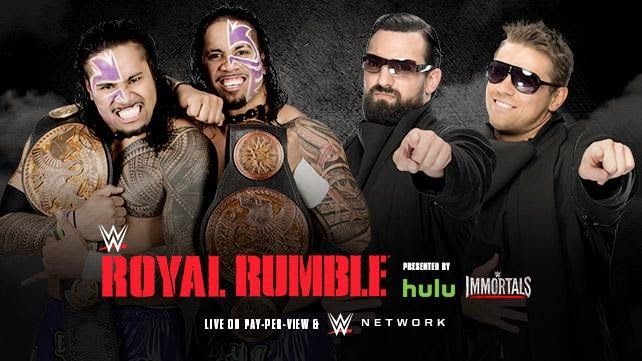 WWE - ROYAL RUMBLE 2015 - The Usos vs. Miz & Mizdow
