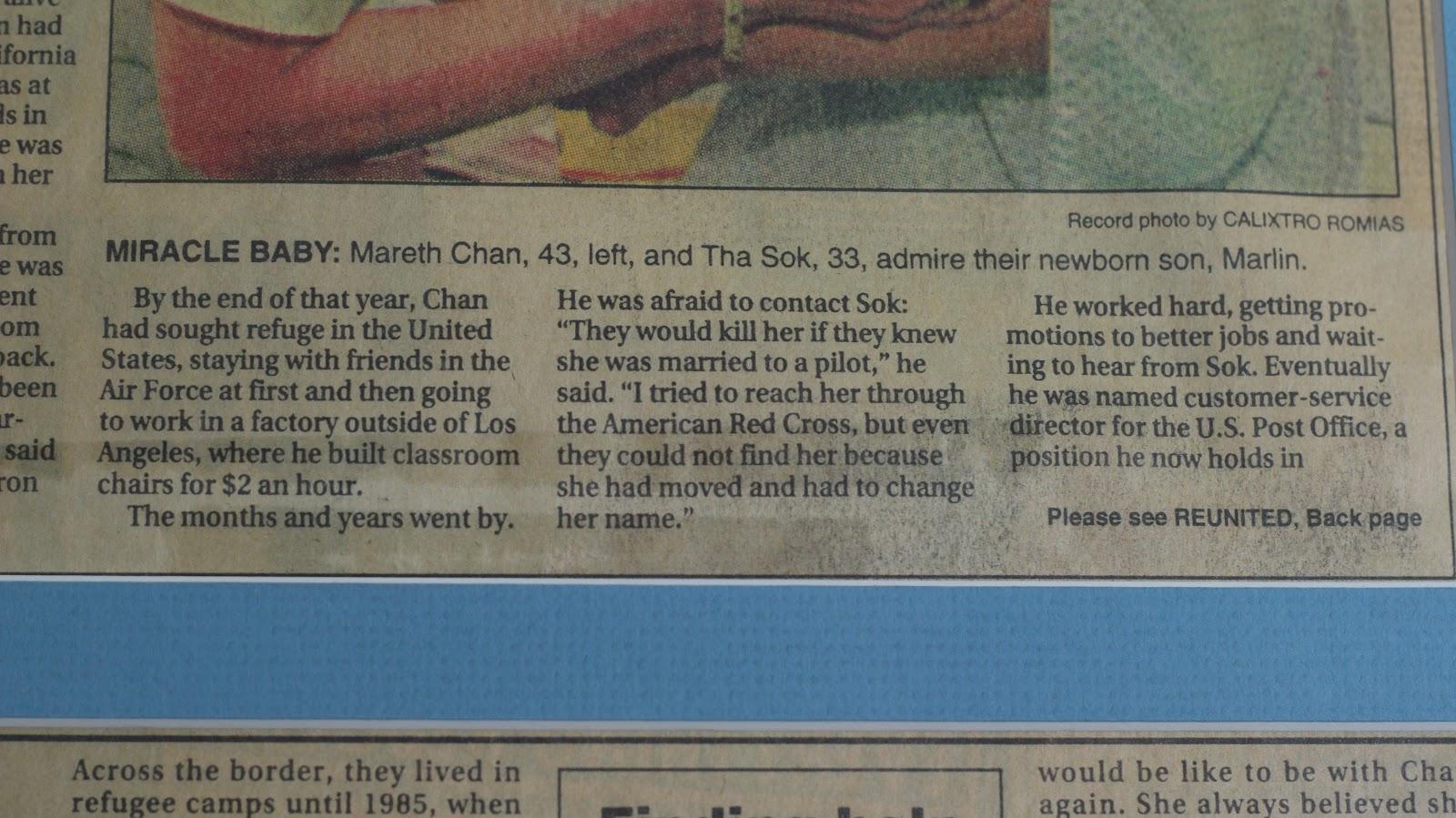 Marlin Chan Life Blog: I'm a Miracle Baby. My parents ...