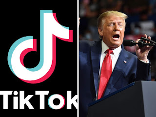 image result for trump to ban tiktok