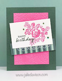 Stampin' Up! Shaded Summer Card + NEW In Colors ~ 2021-2022 Stampin' Up! Annual Catalog ~ www.juliedavison.com #stampinup #suincolors