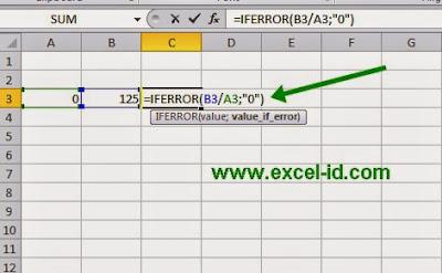 cara menyembunyikan error #DIV/0!