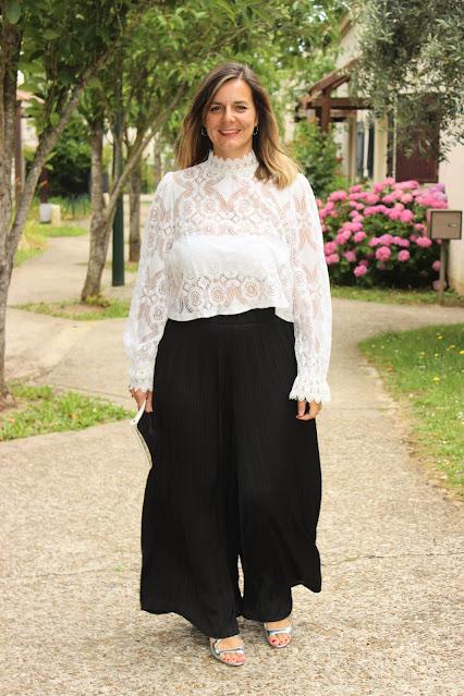 pantalon large XXL zara noir plissé, les petites bulles de ma vie