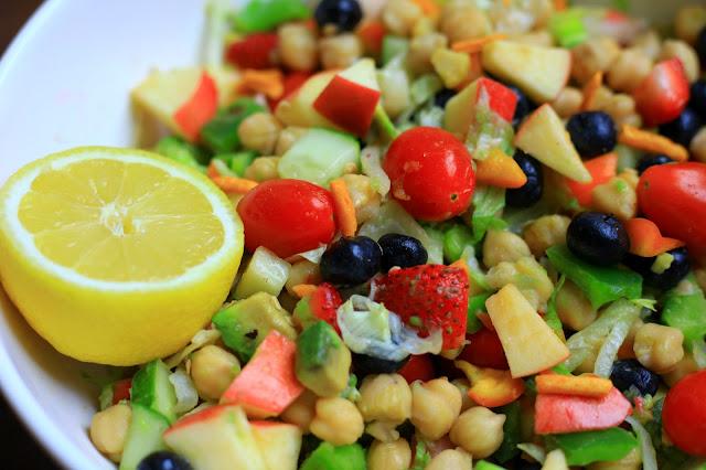 Mega Chickpea Salad, Tanvii.com