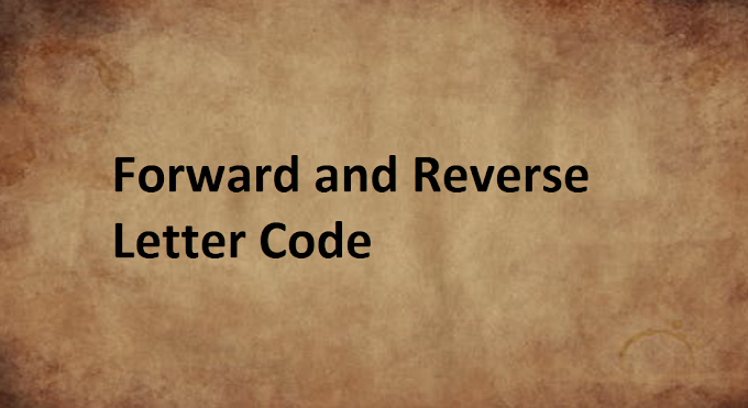 What are the Forward and Reverse Letter Code of English Alphabets?
