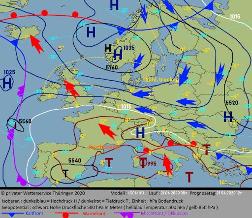 Wettervorhersage Thüringen