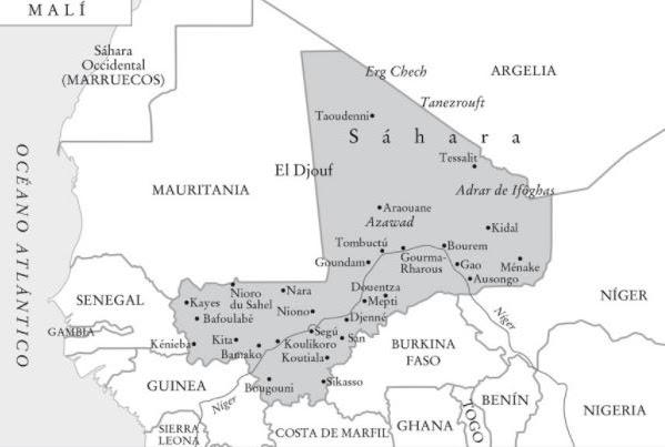 mapa de Malí para los Buscadores 2