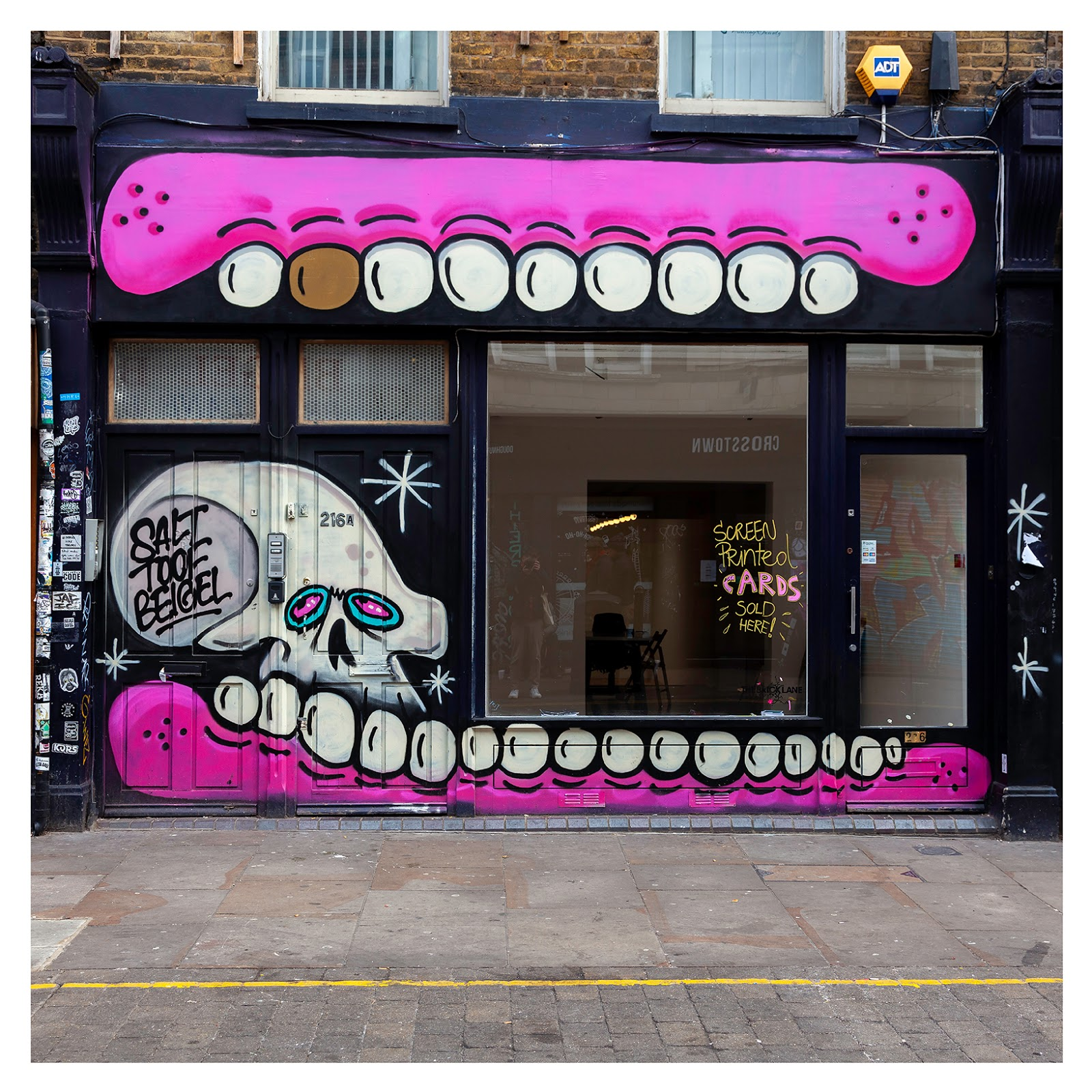 Sweet Toof, Street Art Mural on Brick Lane by artist Sweet Toof