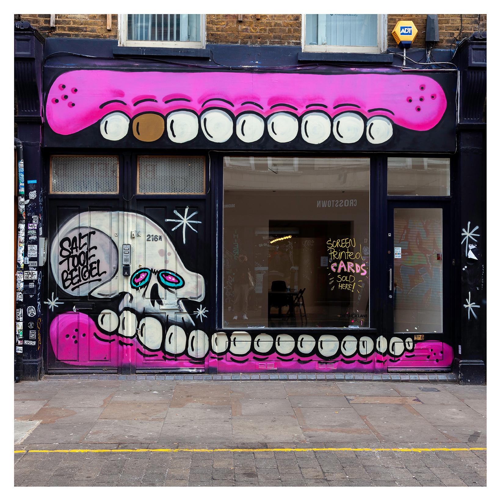 Sweet Toof, Street Art Mural on Brick Lane by artist Sweet Toof