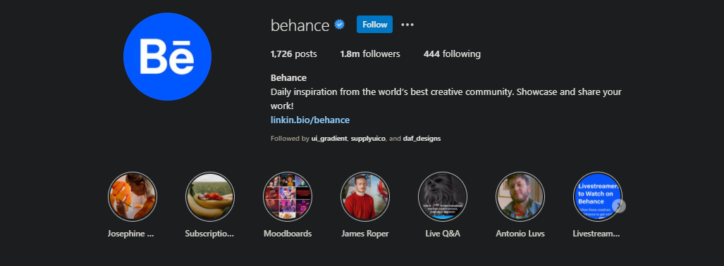 أفضل 10 حسابات انستقرام على المصممين متابعتها