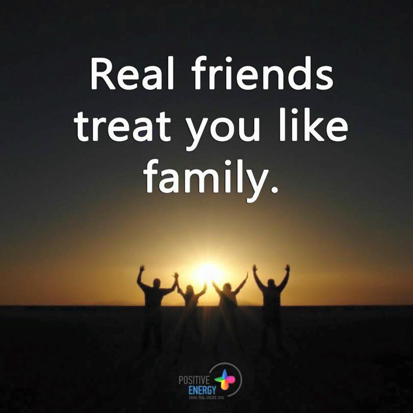 Family And Friends Quotes | Real Friends Treat You Like Family 101 Quotes