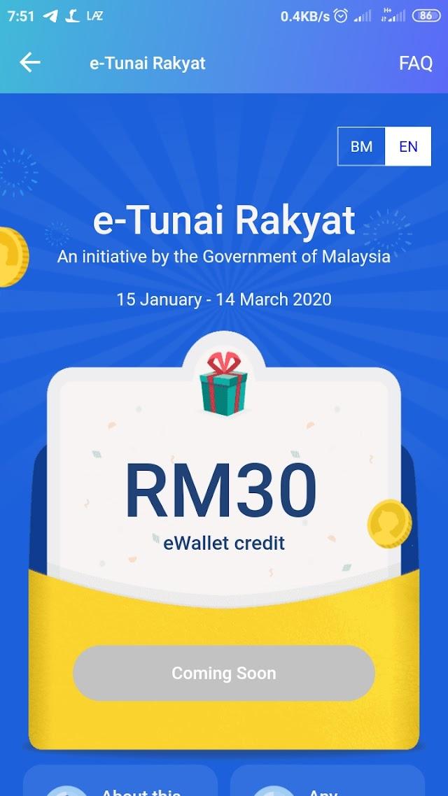 Selesai sudah Tuntut RM30 e-Wallet Touch n Go