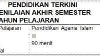 Soal UAS/PAS PAI Kelas 2 SD/MI Semester 2 dan Kunci Jawaban Kurikulum 2013