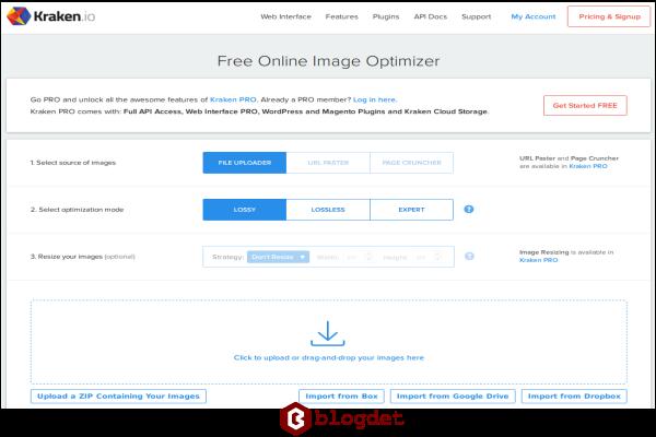 Aplikasi kompres gambar Online