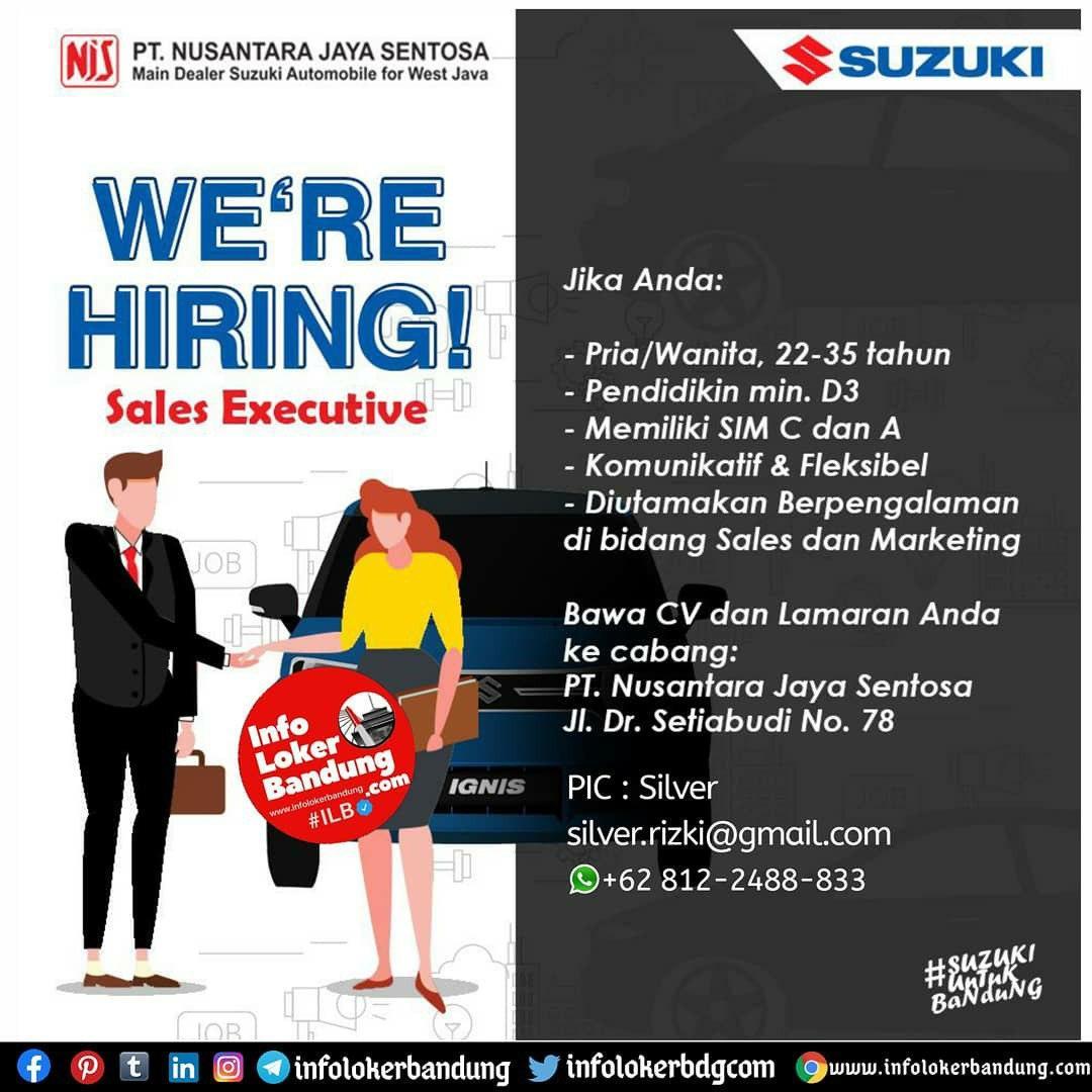 Lowongan Kerja PT. Nusantara Jaya Sentosa ( Suzuki Mobil Bandung) Agustus 2020