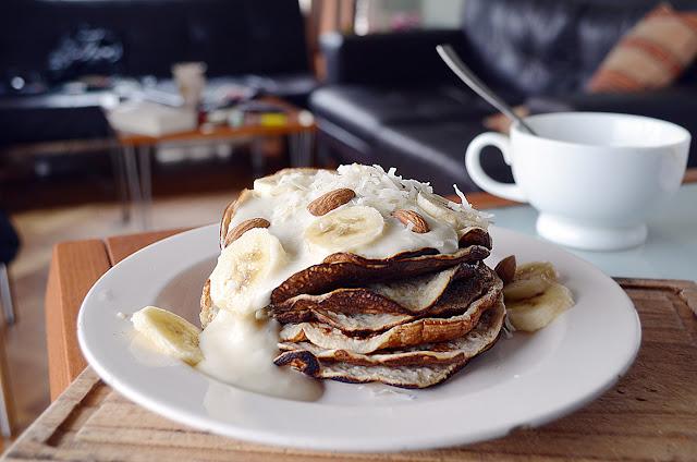 recetas fit, pancakes, desayunos, banana, pancakes fit, fit recipes, almendras, almond, brunch, breakfast, recetas fit, coco