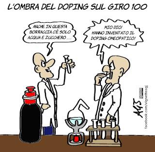 doping, antidoping, giro d'Italia, giro 100, omeopatia, sport, ciclismo, vignetta, satira