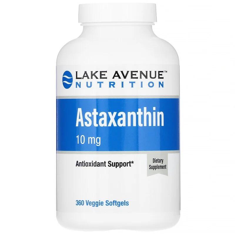 Lake Avenue Nutrition, Астаксантин, 10 мг, 360 растительных мягких таблеток
