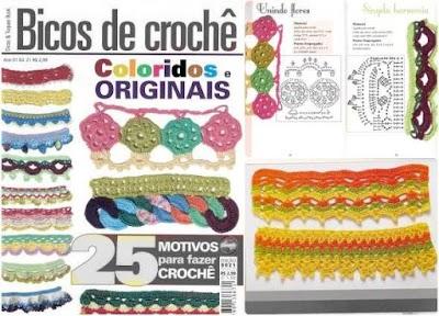 Revista bordes y puntillas crochet