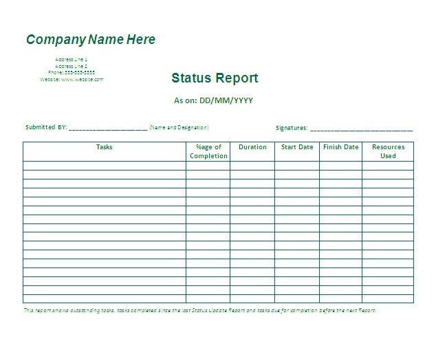 Business Reports Template In Ms Word Excel Template