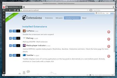 Vivaldi GNOME Extension Repository integration