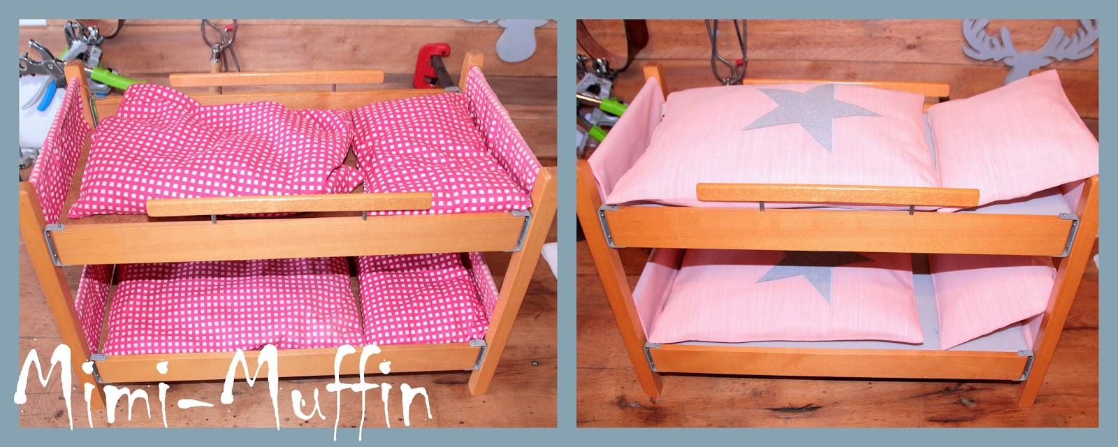mimi muffin altes puppenbett neu aufgepimpt. Black Bedroom Furniture Sets. Home Design Ideas