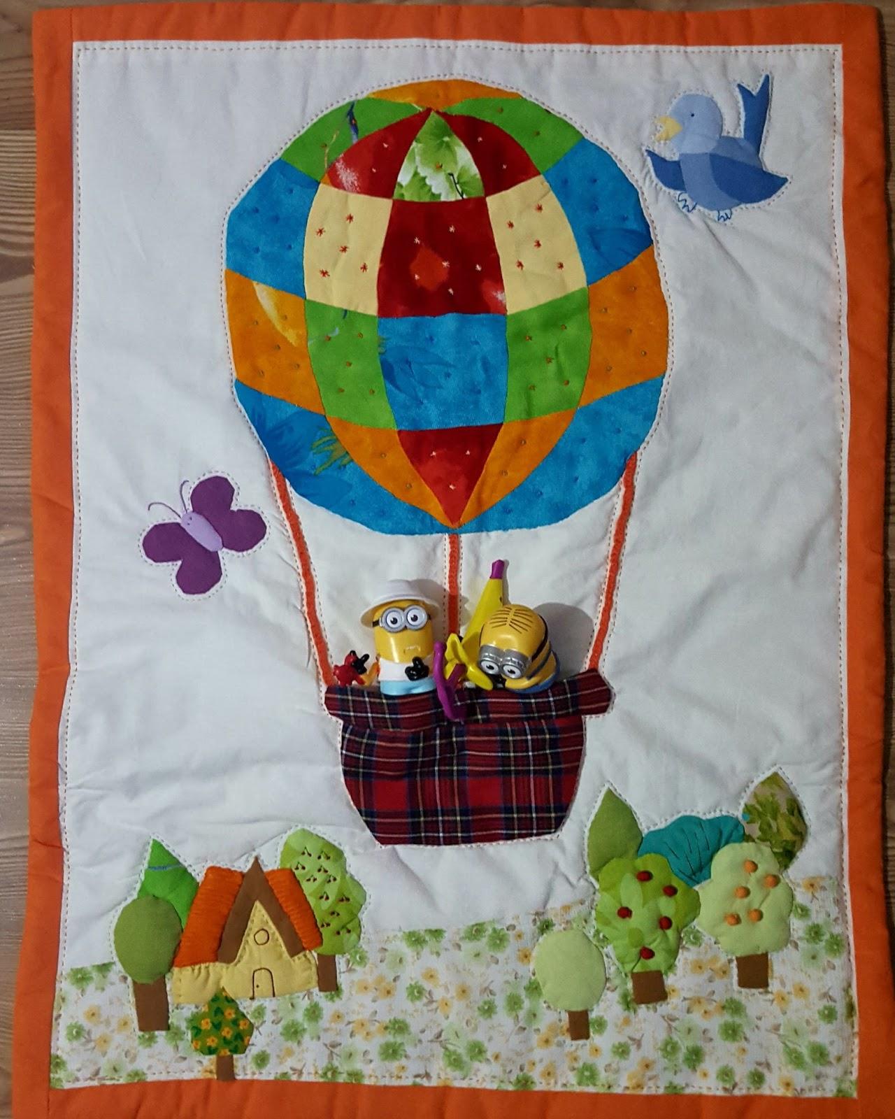 Hot Air Balloon Quilt Wall Hanging