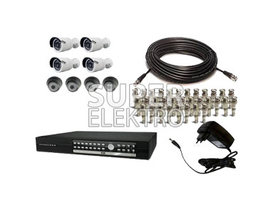 8 Camera CCTV HIKVISION Full Infrared + DVR Rekam
