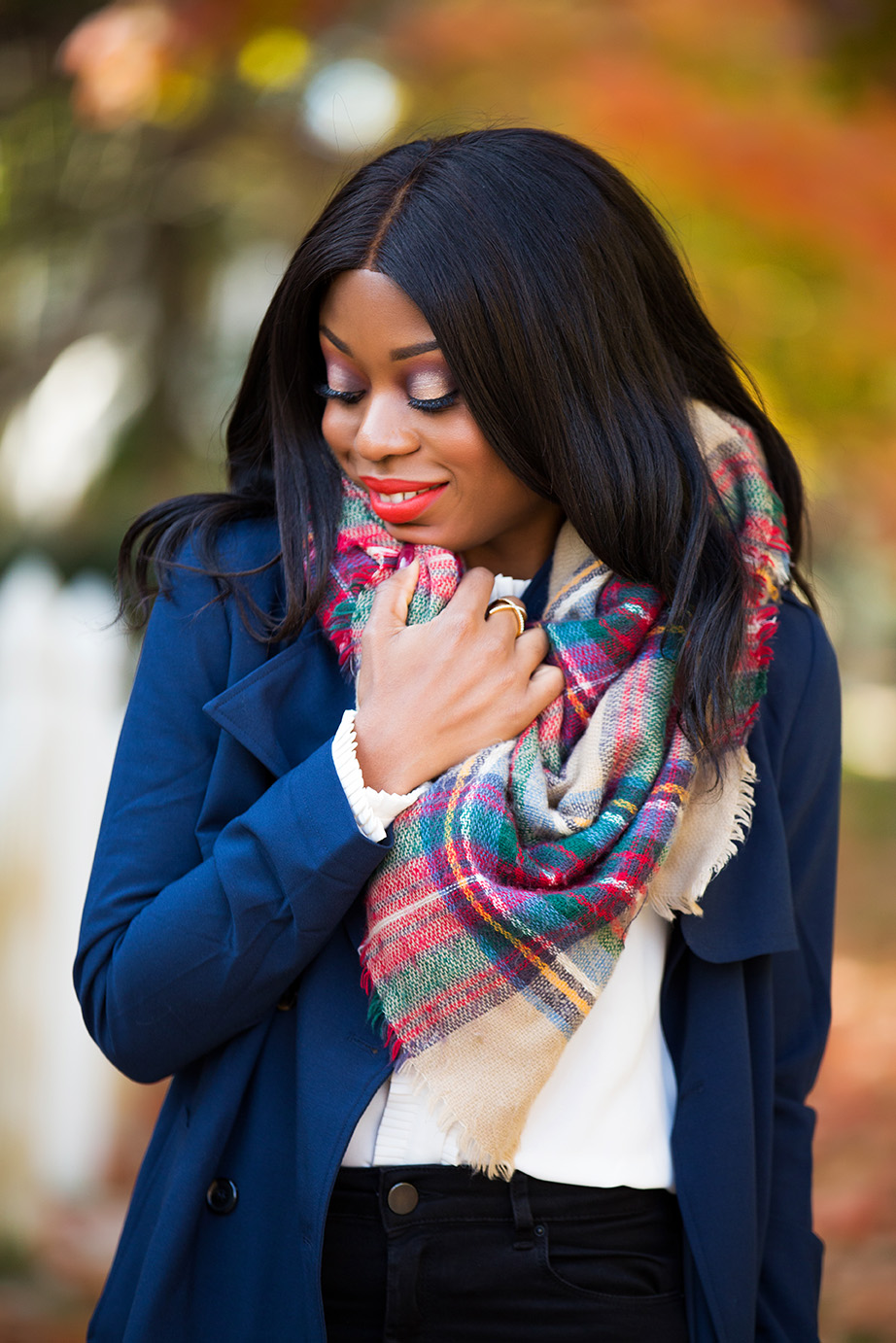 Plaid scarf, www.jadore-fashion.com