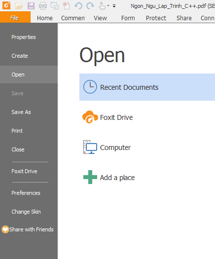 Download phần mềm đọc file PDF Foxit Reader 9.0 mới nhất o