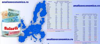 Topul statelor UE după salariile minime