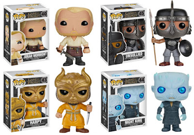 Game of Thrones Pop! Series 6 by Funko - Jorah Mormont, an Unsullied, a Harpy & the Night King