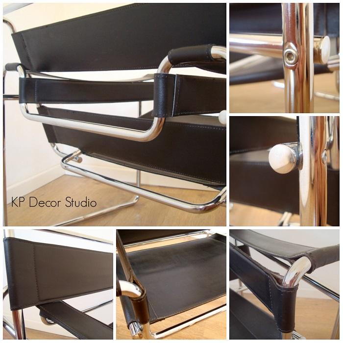 Silla wassily. copia original, diferencias. sillas vintage de calidad para oficina