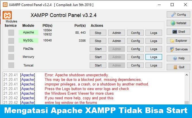 [Solved] Mengatasi Apache XAMPP Tidak Bisa Di Start