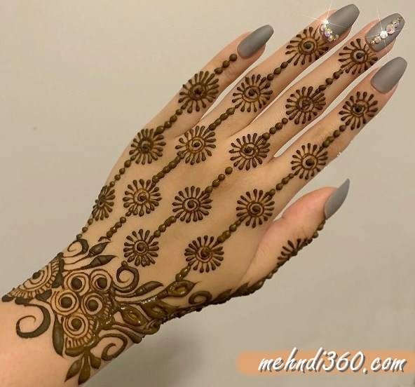 Arabic Floral Mehndi Designs Back Hand