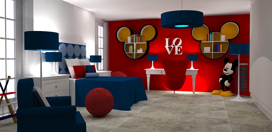 dormitorio tema mickey mouse dormitorios colores y estilos
