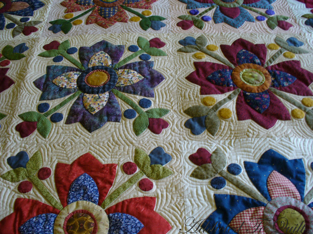 Addicted To Quilts Huge Appliqu 233 Quilt