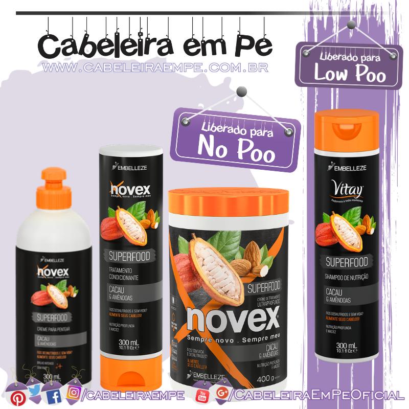 Shampoo (Low Poo), Condicionador, Máscara e Creme para Pentear (No Poo) - Novex