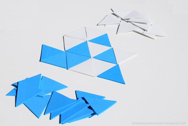 gra diy trójkąty spangles