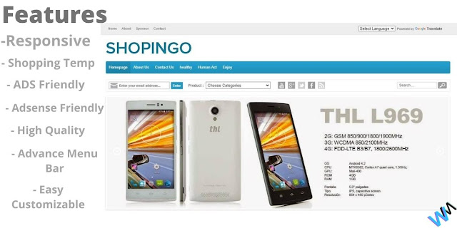 Shopingo Ecommerce Template For Shopping And Affiliate.