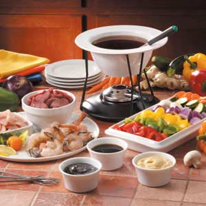 Southern With A Twist Retro Fondue Party Menu
