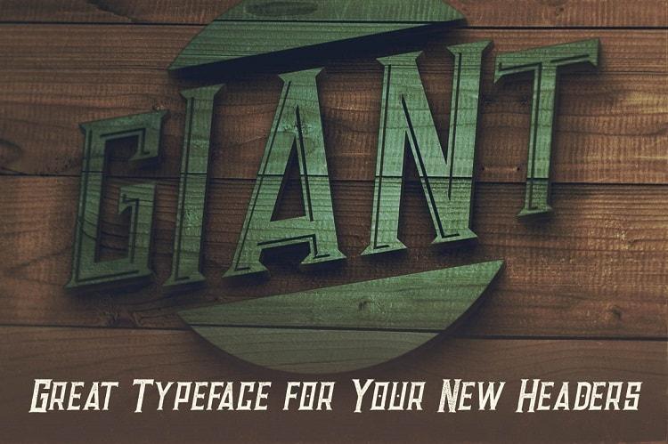 Font Edisi April 2017 - Giant Bold Inline Font
