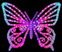 Borboleta floral 1 - Criação Blog PNG-Free